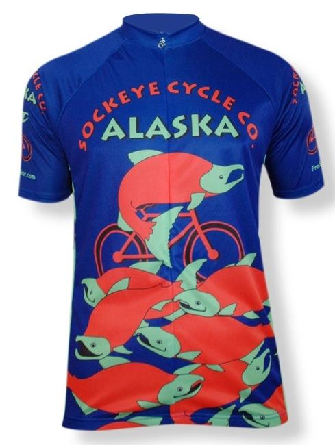 Alaska Sockeye Cycle Co Salmon Jersey - Men's Women's