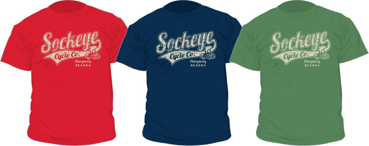 Mens Vintage Logo Sockeye Cycle T-Shirts